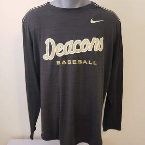 Wake Forest University Baseball Nike Long Sleeve